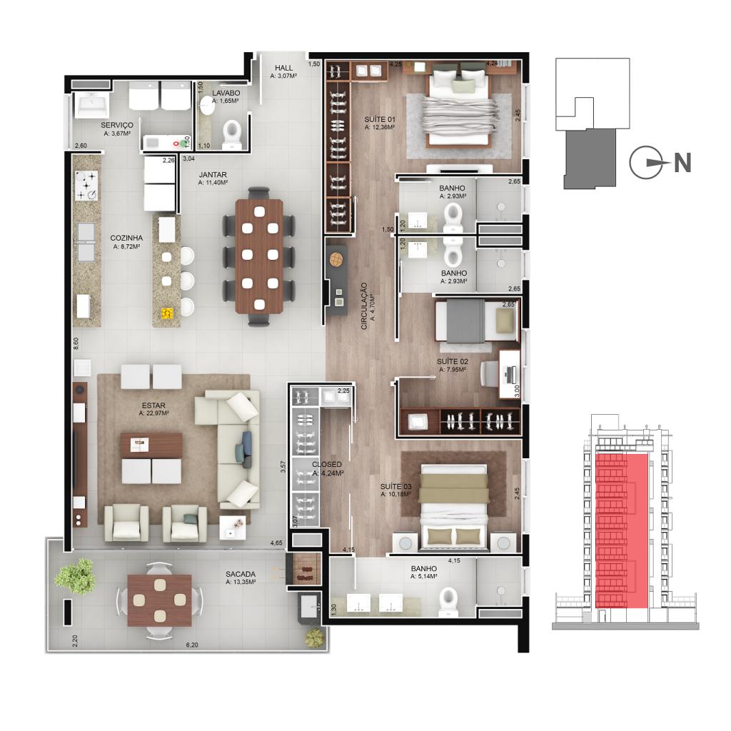Apartamento 203 a 1103
