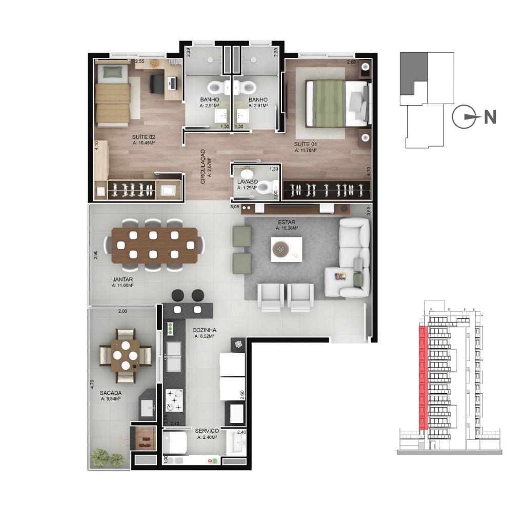 Apartamento 301 a 1101