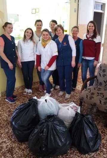 No dia 14 de julho o Comitê Social realizou a doação para o Lar Geriátrico Santa Clara do Sul