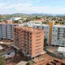Foto aérea dos blocos B, C e D