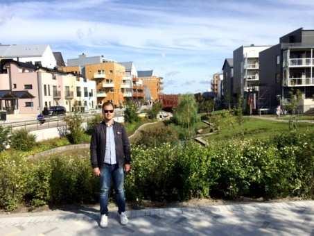 Jean Zagonel esteve em Vallastaden 2017, maior feira sobre moradia urbana da Suécia