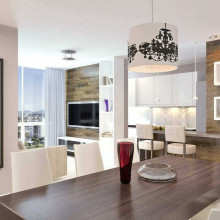Imagem interna apartamento 3 dorm. Final 04 - Bloco A - Área Total: 96,59m²