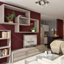 Imagem interna apartamento 2 dorm. Final 03 - Bloco B,C,D,E - Área Total: 100,14m²