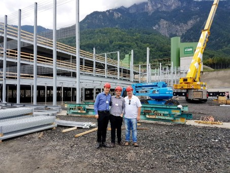 Joni, Diego e Giovane Zagonel estiveram na Alemanha, Itália e Bélgica onde visitaram obras e empresas